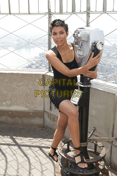 NEW YORK, NY - MAY 25: Alexandra Shipp promotes 'X-MEN: Apocalypse' at the Empire State Building on May 25, 2016 in New York City. Credit: Diego Corredor/Media Punch<br /> CAP/MPI/DIE<br /> &copy;DIE/MPI/Capital Pictures