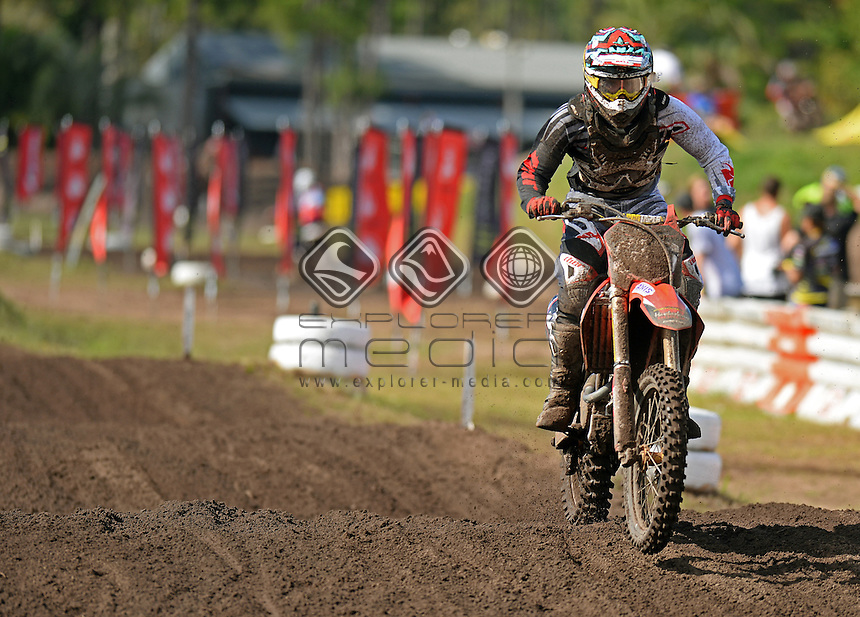 Harley Treadwell / KTM<br /> 2015 MX Nationals / Round 5 / MX2<br /> Australian Motocross Championships<br /> Coolum QLD Sunday 31 May 2015<br /> &copy; Sport the library / Jeff Crow
