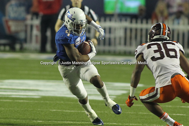 December 26, 2015: Tulsa RB D'Angelo Brewer during the 2nd half of the Camping World Independence Bowl at Independence Stadium in Shreveport, LA. Justin Manning/ESW/CSM