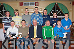 TCastleisland AFC underage Players of the year that received their trophies from Republic of Ireland legend Don Givens at the Castleisland AFC annual awards night in the River Island Hotel, Castleisland on Thursday night front row l-r: Mike Hannafin, Michael Horan, Don, Georgie, Sean Brosnan. Back row: Cian O'Connor, Daniel Barrett, Paul White, Denis Lenihan, Adam Barry, Vinny Murphy and Paul Nelligan