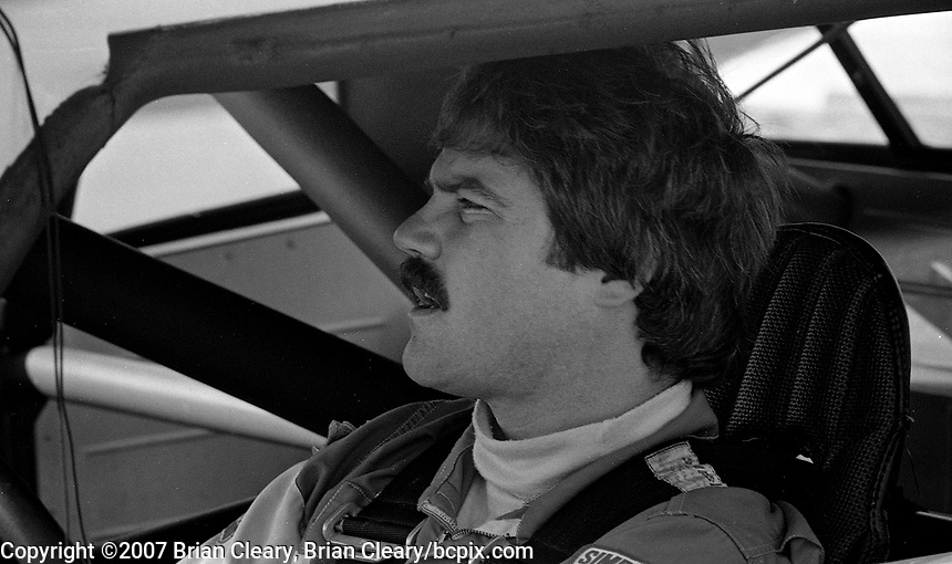 Terry Labonte in his car, Atlanta Journal 500 at Atlanta International Raceway in Hampton, GA on November 6, 1983. (Photo by Brian Cleary/www.bcpix.com)  Atlanta Journal 500, Atlanta Motor Speedway, Hampton, Georgia, November 6, 1983.  (Photo by Brian Cleary/www.bcpix.com)