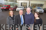 Pictured at Adams Tralee, Hyundai, Mazda and Fiat Commercial Dealers, from left: Marianne Ledwith, Donie Shine, Noel O'Connor and Antoinette O'Connell