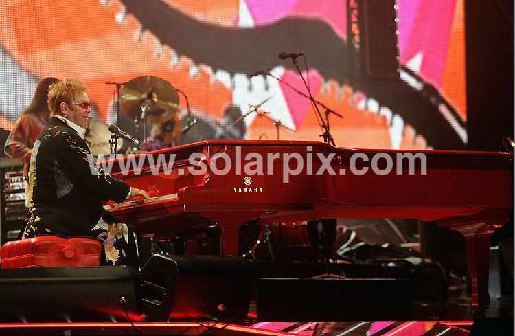 **ALL ROUND PICTURES FROM SOLARPIX.COM**.**SYNDICATION RIGHTS FOR UK AND SPAIN ONLY**.Elton John during his concert in the Olympic Hall in Munich, Germany..Elton was presenting his Las-Vegas-Show 'The Red Piano' in Germany for the first time. After Munich Elton John will perform in Hamburg, Cologne and Berlin..JOB REF:  7981 CPR / Lennart Preiss DATE:22.11.08.**MUST CREDIT SOLARPIX.COM OR DOUBLE FEE WILL BE CHARGED* *UNDER NO CIRCUMSTANCES IS THIS IMAGE TO BE REPRODUCED FOR ANY ONLINE EDITION WITHOUT PRIOR PERMISSION*