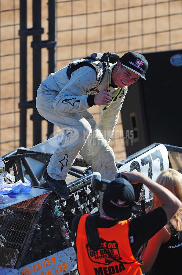 Dec. 11, 2011; Chandler, AZ, USA;  LOORRS limited buggy driver Quentin Tucker (377) during the Lucas Oil Challenge Cup at Firebird International Raceway. Mandatory Credit: Mark J. Rebilas-