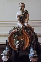 Europe/France/Aquitaine/33/Gironde/Bordeaux: Musée des arts déco - Détail de statuette de Bacchus (XVIIIème)