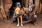 Ethiopia, Omo River Valley, village dog