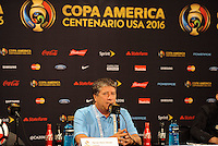 Philadelphia, PA - Tuesday June 14, 2016: Hernan Dario Gomez during a post game press conference Copa America Centenario Group D match between Chile (CHI) and Panama (PAN) at Lincoln Financial Field.