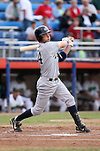 September 9 2008:  Dan Brewer of the Staten Island Yankees, Class-A affiliate of the NY Yankees, during Game One of the opening playoff series at Russell Diethrick Park in Jamestown, NY.  Photo by:  Mike Janes/Four Seam Images