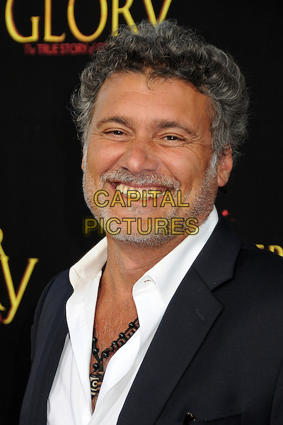 """Steven Bauer.""""For Greater Glory"""" Los Angeles Premiere held at the AMPAS Samuel Goldwyn Theater, Beverly Hills, California, USA..May 31st, 2012.headshot portrait black white shirt suit smiling beard facial hair .CAP/ADM/BP.©Byron Purvis/AdMedia/Capital Pictures."""