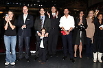 Amanda Lea La Vergne, Anthony Warlow, Andy Blankenbuehler, Clarke Thorell, Katie Finneran, J. Elaine Marcos & Company attending the Broadway Opening Night Performance  Gypsy Robe Ceremony celebrating Merwin Foard recipient  for 'Annie' at the Palace Theatre in New York City on 11/08/2012
