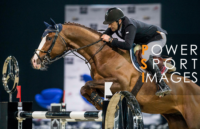 Piergiorgio Bucci of Italy rides Casallo Z in action during the Longines Grand Prix as part of the Longines Hong Kong Masters on 15 February 2015, at the Asia World Expo, outskirts Hong Kong, China. Photo by Victor Fraile / Power Sport Images