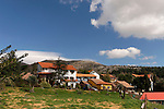 The Golan Heights. Moshav Neve Ativ at the foothill of Mount Hermon