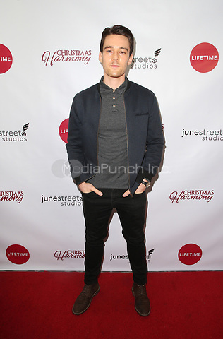"LOS ANGELES, CA - NOVEMBER 7: Luke Beasley, at Premiere of Lifetime's ""Christmas Harmony"" at Harmony Gold Theatre in Los Angeles, California on November 7, 2018. Credit: Faye Sadou/MediaPunch"