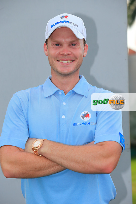 Danny Willett (ENG) European Team before Pro-Am Day of the 2016 Eurasia Cup held at the Glenmarie Golf &amp; Country Club, Kuala Lumpur, Malaysia. 14th January 2016.<br /> Picture: Eoin Clarke   Golffile<br /> <br /> <br /> <br /> All photos usage must carry mandatory copyright credit (&copy; Golffile   Eoin Clarke)