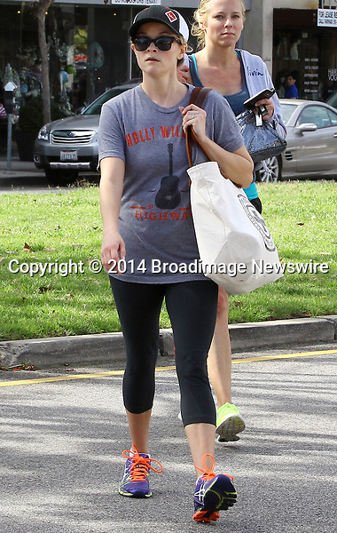 Pictured: Reese Witherspoon<br /> Mandatory Credit &copy; Ben Foster/Broadimage<br /> Reese Witherspoon leaving Yoga Classes in Brentwood<br /> <br /> 3/7/14, Brentwood, California, United States of America<br /> <br /> Broadimage Newswire<br /> Los Angeles 1+  (310) 301-1027<br /> New York      1+  (646) 827-9134<br /> sales@broadimage.com<br /> http://www.broadimage.com<br /> <br /> <br /> Pictured: Reese Witherspoon<br /> Mandatory Credit &copy; Ben Foster/Broadimage<br /> Reese Witherspoon leaving Yoga Classes in Brentwood<br /> <br /> 3/7/14, Brentwood, California, United States of America<br /> Reference: 030714_HDLA_BDG_018<br /> <br /> Broadimage Newswire<br /> Los Angeles 1+  (310) 301-1027<br /> New York      1+  (646) 827-9134<br /> sales@broadimage.com<br /> http://www.broadimage.com