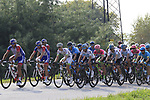 The peloton led by Movistar Team and Groupama-FDJ climb Colle Brianza during the 112th edition of Il Lombardia 2018, the final monument of the season running 241km from Bergamo to Como, Lombardy, Italy. 13th October 2018.<br /> Picture: Eoin Clarke | Cyclefile<br /> <br /> <br /> All photos usage must carry mandatory copyright credit (© Cyclefile | Eoin Clarke)