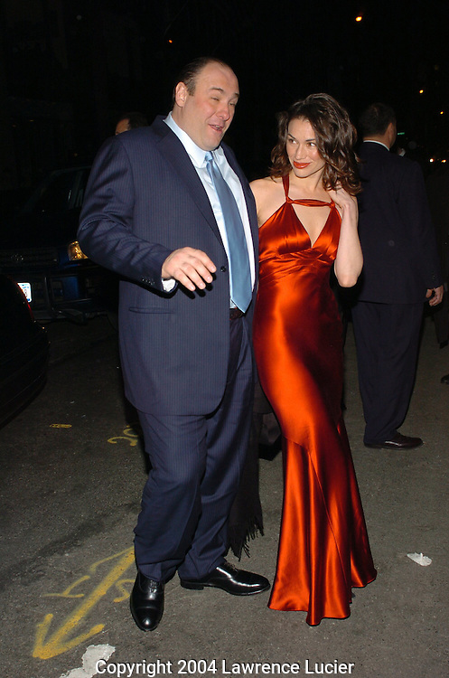 James Gandolfini and Lora Somoza