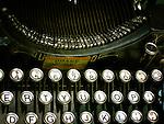 An old fashioned typewriter keyboard