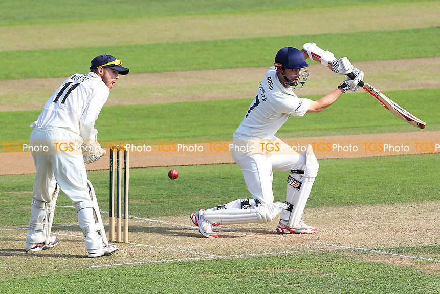James Foster of Essex in batting action as Adam Rouse looks on - Essex CCC vs Gloucestershire CCC - LV County Championship Division Two Cricket at the Ford County Ground, Chelmsford - 30/06/14 - MANDATORY CREDIT: Gavin Ellis/TGSPHOTO - Self billing applies where appropriate - contact@tgsphoto.co.uk - NO UNPAID USE
