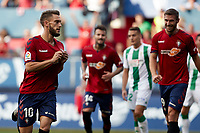 Roberto Torres (midfielder; CA Osasuna) celebrates the goal during the Spanish football of La Liga 123, match between CA Osasuna and Cordoba CF at the Sadar stadium, in Pamplona (Navarra), Spain, on Saturday, October 13, 2018.