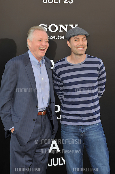 "Jon Voight & son James Haven at the premiere of ""Salt"" at Grauman's Chinese Theatre, Hollywood..July 19, 2010  Los Angeles, CA.Picture: Paul Smith / Featureflash"