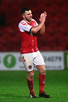 Fleetwood Town's Lewis Coyle acknowledges the crowd<br /> <br /> Photographer Richard Martin-Roberts/CameraSport<br /> <br /> The EFL Sky Bet League One - Saturday 15th December 2018 - Fleetwood Town v Burton Albion - Highbury Stadium - Fleetwood<br /> <br /> World Copyright © 2018 CameraSport. All rights reserved. 43 Linden Ave. Countesthorpe. Leicester. England. LE8 5PG - Tel: +44 (0) 116 277 4147 - admin@camerasport.com - www.camerasport.com