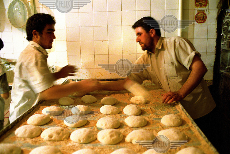 A bakery in the southern suburbs of Tehran.