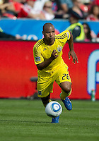 23 April 2011: Columbus Crew defender Julius James #26 in action during a game between the Columbus Crew and the Toronto FC at BMO Field in Toronto, Ontario Canada..The game ended in a 1-1 draw.