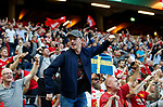 Manchester United fans enjoy the atmosphere during the UEFA Europa League Final match at the Friends Arena, Stockholm. Picture date: May 24th, 2017.Picture credit should read: Matt McNulty/Sportimage