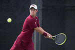 April 23, 2015; San Diego, CA, USA; Loyola Marymount Lions tennis player Cristobal Rivera during the WCC Tennis Championships at Barnes Tennis Center.