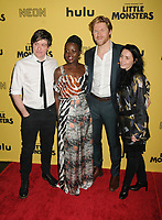"""08 October 2019 - New York, New York - Abe Forsythe, Lupita Nyong'o, Alexander England and Jodi Matterson. """"Little Monsters"""" New York Premiere held at AMC Lincoln Square Theater. <br /> CAP/MPI/ADM<br /> ©ADM/MPI/Capital Pictures"""