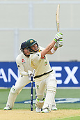 3rd December 2017, Adelaide Oval, Adelaide, Australia; The Ashes Series, Second Test, Day 2, Australia versus England; Tim Paine of Australia hits the ball high back along the wicket