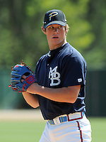 April 9, 2009: Craig Kimbrel of the Myrtle Beach Pelicans, Class A affiliate of the Atlanta Braves, on 2009 opening day at BB&T Coastal Field in Myrtle Beach, S.C. Photo by:  Tom Priddy/Four Seam Images