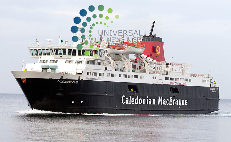 Caledonian MacBrayne Ferry - Caledonian Isles .Picture: Universal News And Sport (Europe).7 March 2011....