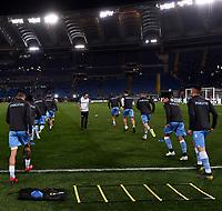 Lazio plaers warm up ahead the Serie A 2018/2019 football match between Lazio and Empoli at stadio Olimpico, Roma, February 7, 2019 <br />  Foto Andrea Staccioli / Insidefoto