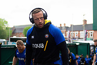 Max Lahiff and the rest of the Bath Rugby team arrive at Welford Road. Gallagher Premiership match, between Leicester Tigers and Bath Rugby on May 18, 2019 at Welford Road in Leicester, England. Photo by: Patrick Khachfe / Onside Images