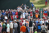 20.07.2014. Hoylake, England.  Rickie Fowler of United States watches his tee shot on the 16th hole during the final round of the 143rd British Open Championship at Royal Liverpool Golf Club in Hoylake, England.