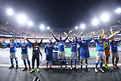 2nd February 2019, Stadio San Paolo, Naples, Italy; Serie A football, Napoli versus Sampdoria; Napoli applaud their fans after their 3-0 win