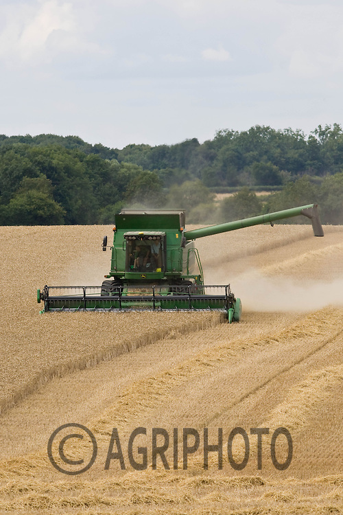 Harvesting Viscount Wheat on Henry Hirst Farms, Home Farm,Uffington,Stamford,Lincolnshire