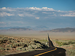 Nevada Route 772 as it crosses east across the Smith Creek Valley in western Lander County, Nevada. Route 772 was once old US 50 and part of the Lincoln Highway in the 20th century.