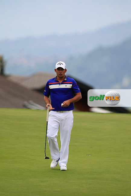 Pablo LARRAZABAL (ESP) on the 7th green during Thursday's Round 1 of the 2014 Omega European Masters held at the Crans Montana Golf Club, Crans-sur-Sierre, Switzerland.: Picture Eoin Clarke, www.golffile.ie: 4th September 2014