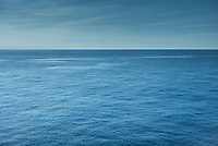 Calm sea still waters in The Bay of Biscay north of Santander in the Atlantic Ocean, Spain