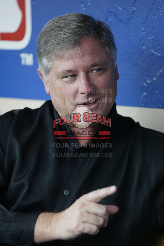 Houston Astros General Manager Gerry Hunsicker before a 2002 MLB season game against the Los Angeles Dodgers at Dodger Stadium, in Los Angeles, California. (Larry Goren/Four Seam Images)