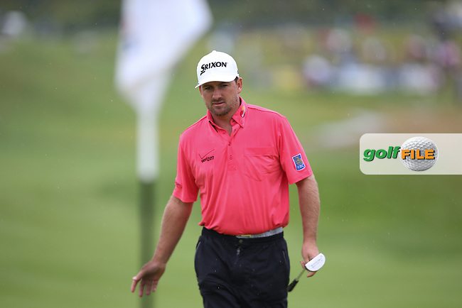 Graeme McDowell (NIR) putts short to the 17th for his third shot during the Final Round of the Alstom Open de France from Le Golf National, Guyancourt, Versailles, France. Picture:  David Lloyd / www.golffile.ie