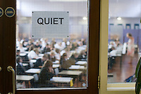 State secondary school.  SATS tests for 12 year olds..