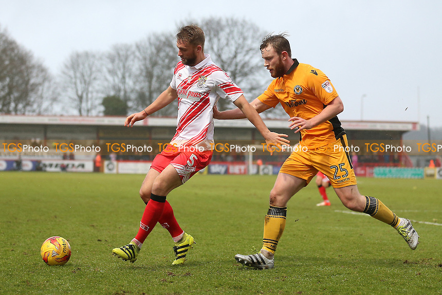 Fraser Franks of Stevenage and Ben Jones of Newport County during Stevenage vs Newport County, Sky Bet EFL League 2 Football at the Lamex Stadium on 7th January 2017