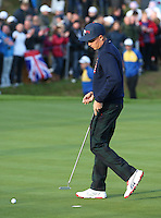 Rickie Fowler (USA) during the Saturday morning Fourballs of the 2014 Ryder Cup at Gleneagles. The 40th Ryder Cup is being played over the PGA Centenary Course at The Gleneagles Hotel, Perthshire from 26th to 28th September 2014.: Picture David Lloyd, www.golffile.ie: \27/09/2014\