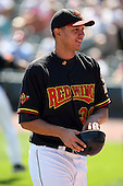 September 2 2008:  Pitcher Mariano Gomez of the Rochester Red Wings, Class-AAA affiliate of the Minnesota Twins, during a game at Frontier Field in Rochester, NY.  Photo by:  Mike Janes/Four Seam Images