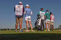 Morgan Pressel (USA) and Nicole Broch Larsen (DNK) look over their tee shot on 9 during round 2 of  the Volunteers of America LPGA Texas Classic, at the Old American Golf Club in The Colony, Texas, USA. 5/6/2018.<br /> Picture: Golffile | Ken Murray<br /> <br /> <br /> All photo usage must carry mandatory copyright credit (&copy; Golffile | Ken Murray)