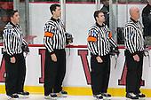 Stephen Drain, Scott Wheeler, Marty Hughes, Christopher Piti - The Harvard University Crimson tied the visiting Dartmouth College Big Green 3-3 in both team's first game of the season on Saturday, November 1, 2014, at Bright-Landry Hockey Center in Cambridge, Massachusets.
